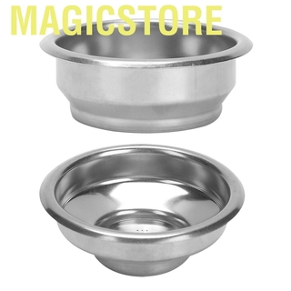 Magicstore 58mm Double Layers Single/Double Doses Filter Basket Semi-Automatic Coffee Machine Bottomless Handle
