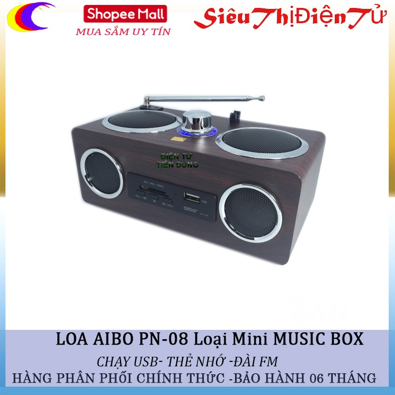 Loa mini Aibo PN-08 music box