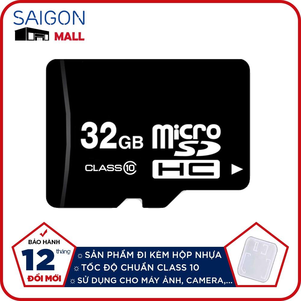 Thẻ nhớ 32GB micro SDHC class 10 đi kèm hộp nhựa - Bảo hành 12 tháng đổi mới