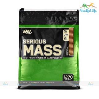 [FREE SHIP + CHÍNH HÃNG] Sữa Tăng Cân Cho Người Gầy On Optimum Nutrition Serious Mass 12 lbs (5.44 kg) [100% USA]