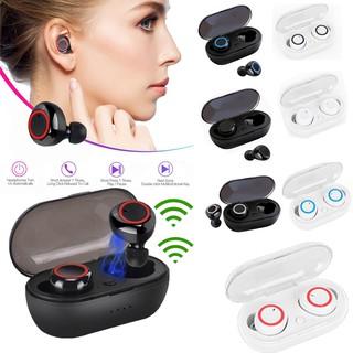 Y50 Tai nghe Bluetooth TWS Earbuds Tai nghe Bluetooth không dây Tai nghe âm thanh nổi Tai nghe Bluetooth Tai nghe có Mic và Hộp sạc