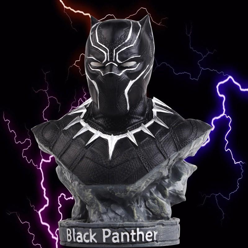 (Hàng sắp về) Mô hình chiến binh báo đen Black Panther 18cm để bàn