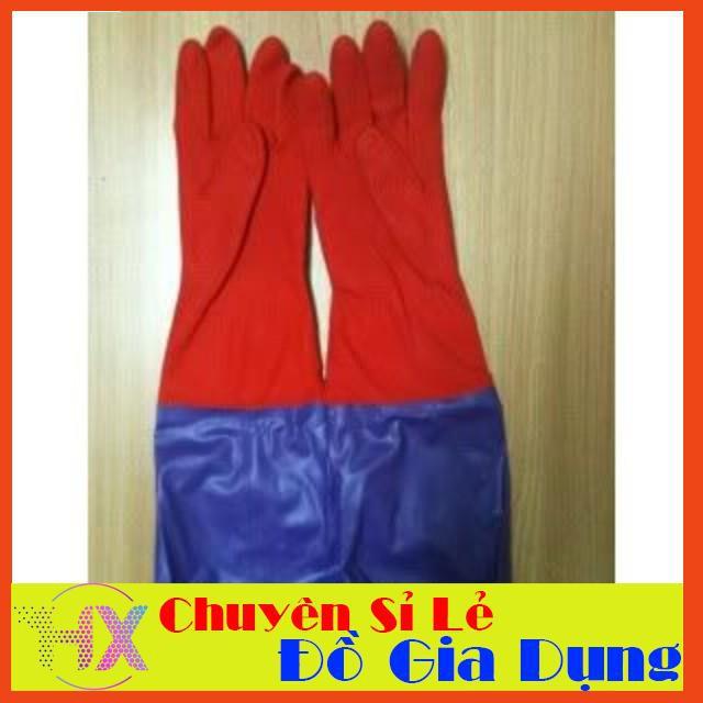 [Giá Shock]  Găng tay cao su dài lót nỉ  | HÀNG MỚI
