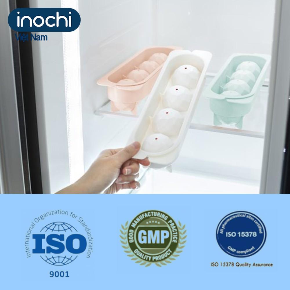 Khay đá tròn - vỉ làm đá bi tủ lạnh kari inochi Nhật Bản cỡ lớn chất liệu nhựa nguyên sinh cao cấp chính hãng KDT01