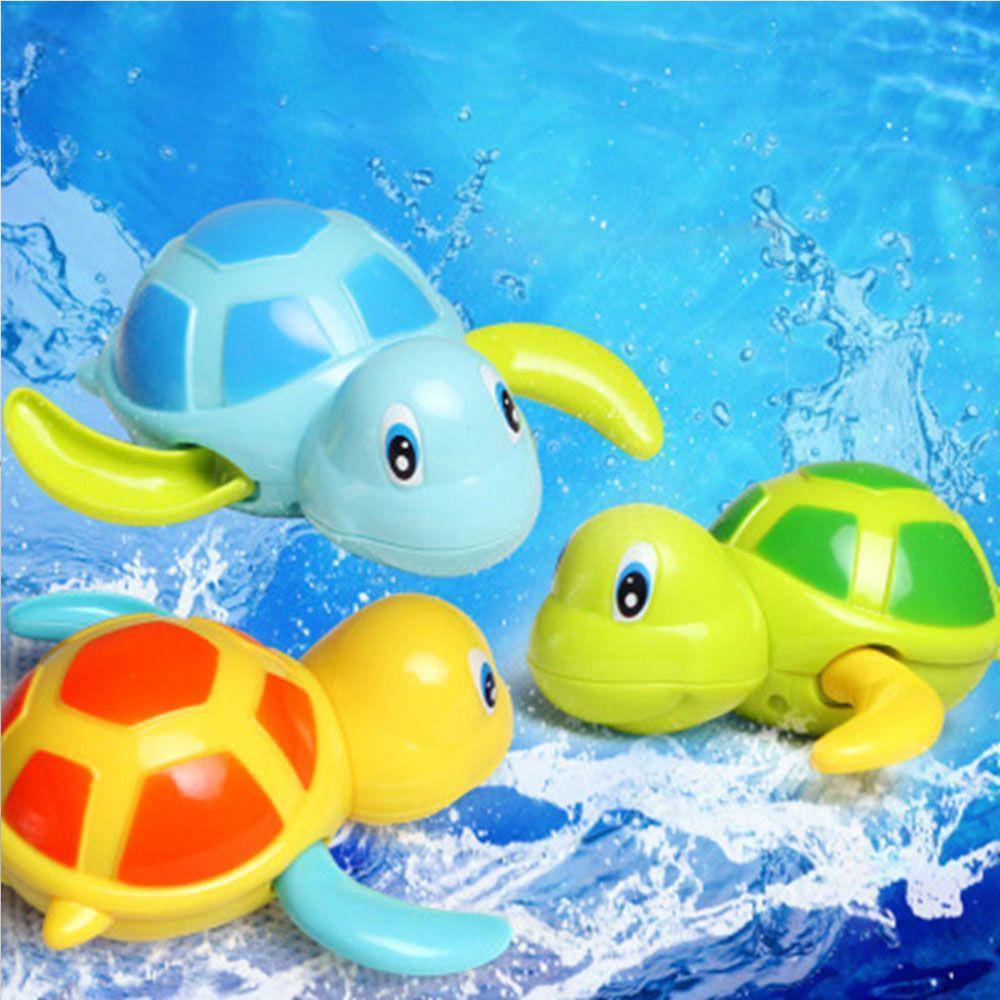 Kids Baby Bath Toy Swim Turtle Wound-up Chain Small Animal Toy