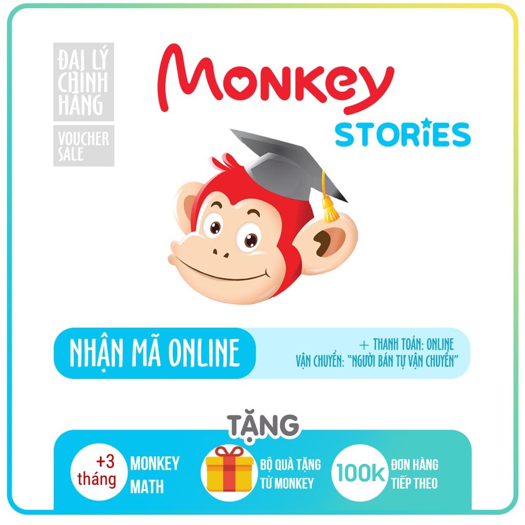 Monkey Stories Toàn quốc [E-voucher]-Voucher Mã học phần mềm tiếng Anh (Trọn đời, 1 năm, 6 tháng)