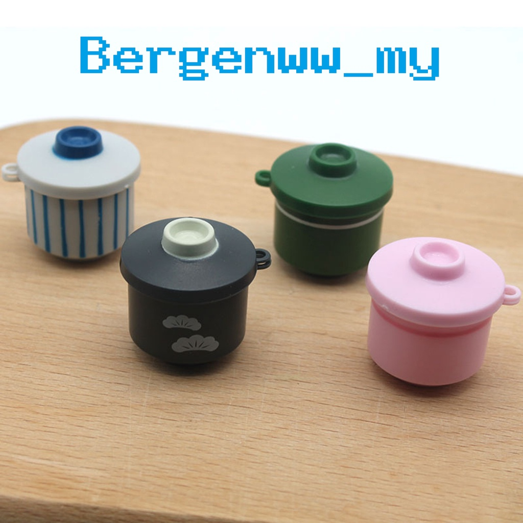 Bergenww_my Simulation Rice Cooker Exquisite Doll Decor Plastic Egg Steamer Model Dollhouse Kitchen Accessories for Kids