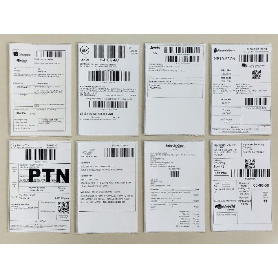 Giấy in đơn hàng TMĐT Tem vận chuyển A6, A7 cho máy in nhiệt dPos PR421, Abit Q900, DT108B XP470B, XP420B, HPRT N41