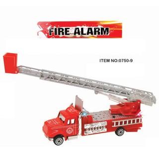 Đồ chơi mô hình xe cứu hỏa đỏ có thang kéo dài ra được. 0750-9