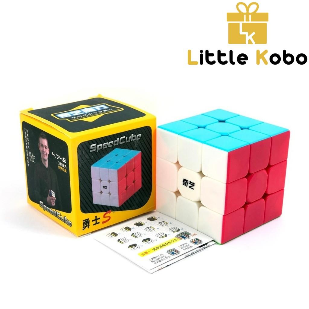 Rubik 3×3 QiYi Warrior S Stickerless Rubic 3 Tầng Không Viền