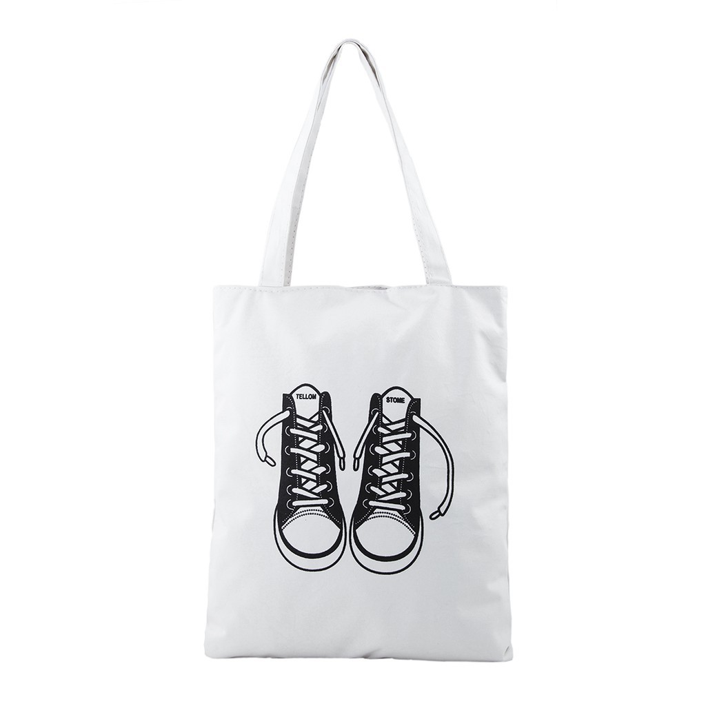 Túi vải tote nữ Canvas in hình Sneaker 3500