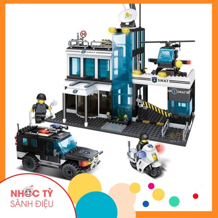 Bộ xếp Hình lego Trạm cảnh sát