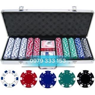 Phỉnh poker 500 chip loại không số