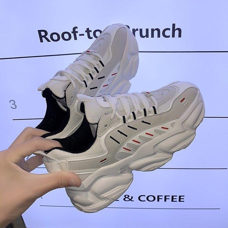 Giày Thể Thao Đế Bằng Phối Lưới Thoáng Khí Thời Trang Cho Nữ