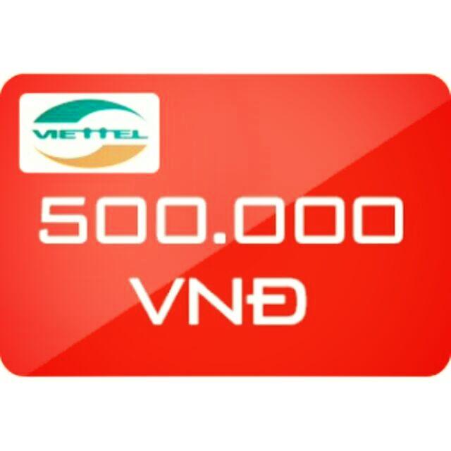 Nạp tiền Viettel 500k siêu rẻ