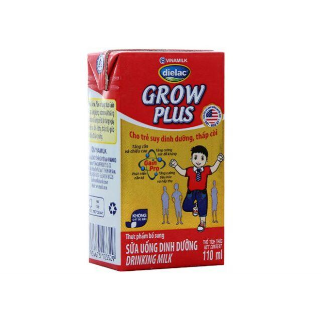 Sữa bột pha sẵn Grow Plus hộp 110ml (thùng 48 hộp)