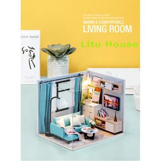 Corner of Living Room – Nhà mô hình đồ chơi DIY ( TẶNG LỌ KEO UHU 35ml )