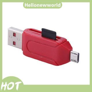 Đầu đọc thẻ nhớ TF/SD 2 trong 1 đa chức năng cắm USB 2.0