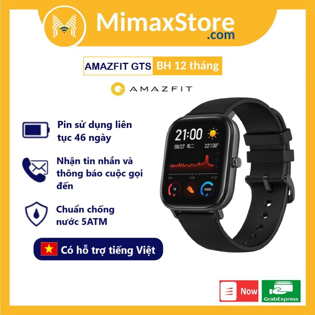 Đồng Hồ Thông Minh Xiaomi Amazfit GTS 2019 Global - Hàng Chính Hãng - Bản Quốc Tế - Phân Phối Bởi Digiworld