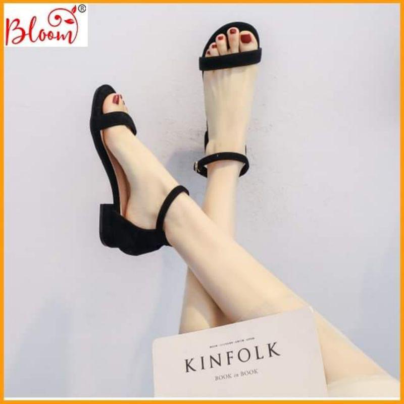 Giày cao gót 5p đế vuông quai ngang kiểu dáng basic đẹp Giày cao gót nữ YUKIBLOOM 5p da lộn Tặng Quà ngẫu nhiên BG08