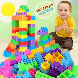 ✦LD-100Pcs Plastic Puzzle Building Blocks Bricks Children Kids Educational Toy Gift