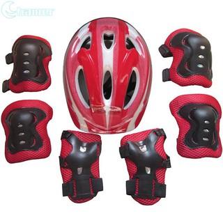 Bộ 7 phụ kiện bảo vệ đầu và chân tay cho bé chạy xe đạp trượt patin thumbnail