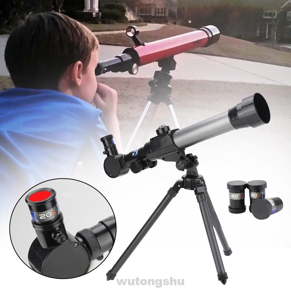 Hiking Educational Toy Outdoor Camping Bird Watching 20X 30X 40X Eyepiece Space Observation Kids Lunar Telescope Kit