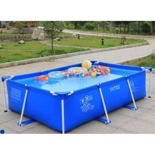 Bể Bơi Khung Chữ Nhật PVC Cao Cấp
