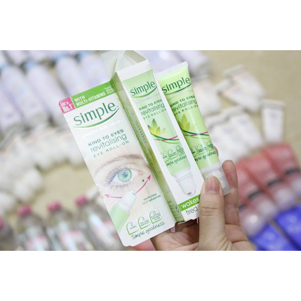 Lăn Dưỡng Mắt Simple Kind To Eyes Revitalising Eye Roll-On (15ml - 3376323 , 894738589 , 322_894738589 , 110000 , Lan-Duong-Mat-Simple-Kind-To-Eyes-Revitalising-Eye-Roll-On-15ml-322_894738589 , shopee.vn , Lăn Dưỡng Mắt Simple Kind To Eyes Revitalising Eye Roll-On (15ml