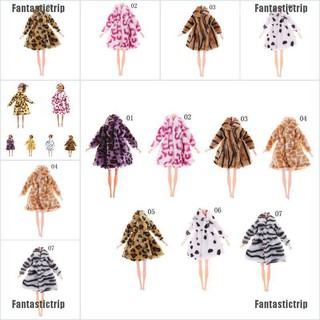 "Fantastictrip Fashion Doll Winter Coat For 11"" 30cm Dolls 1/6 Doll Clothes"