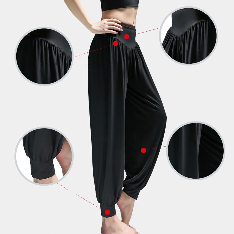 Mặc gì đẹp: Thoáng mát với Quần alibaba nữ tập Yoga, Gym, mặc nhà co giãn 4 chiều
