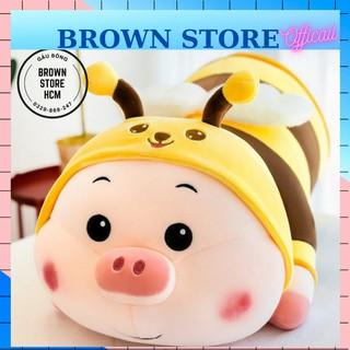 Gấu Bông Heo Ong Dễ Thương. Gấu Bông Heo Cosplay Ong BrownStore thumbnail