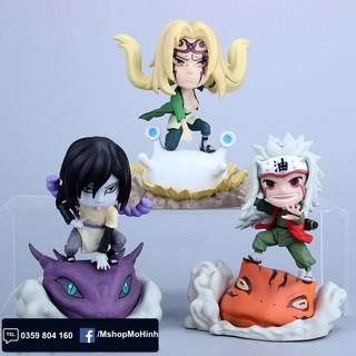 Mô hình Naruto chibi – Tam nin Jiraija + Tsunade + Orochimaru chibi