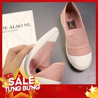 - Hàng nhập khẩu Giày Nữ Choose Vải Slipon Gía Rẻ Sinh Viên Thời Trang Dạo Phố GK1K1 Liên hệ mua hàng 084.209.1989 thumbnail