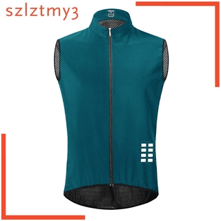 [YOLO] Breathable Cycling Vest Sleeveless Bike Clothing Tops Shirt Fill Zip