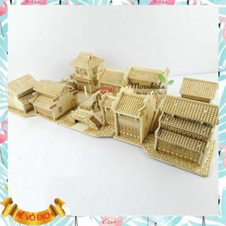 [Hàng Đẹp] Đồ chơi lắp ráp gỗ 3D Mô hình Thị Trấn Giang Nam – Tặng kèm đèn LED USB trang trí (hàng ord 3-5 ngày)