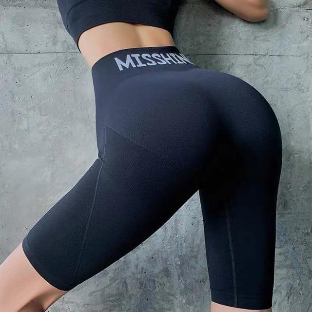 Mặc gì đẹp: Thoáng mát với Quần tập lửng Gym nữ MISSHINE cạp lưng cao, co giãn 4 chiều, thoáng mát, ôm dáng nâng quần tập Yoga, Zumba, Aerobic