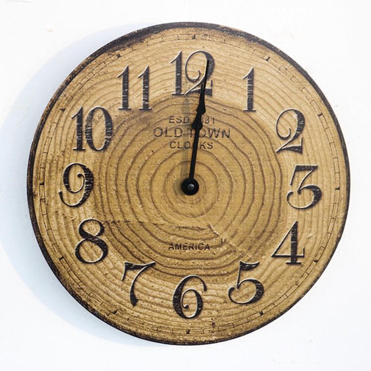 Đồng hồ treo tường OLDTOWN S81 - Tạo hình vân gỗ độ