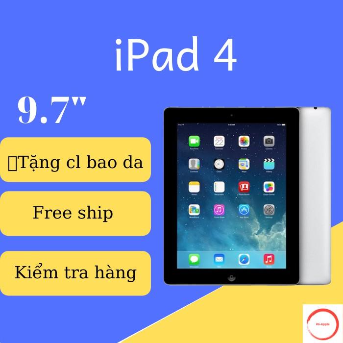 iPad 4 CHÍNH HÃNG APPLE FULL HD Bản wifi 16GB BH 6 tháng 1 đổi 1 tại nhà trong 30 ngày