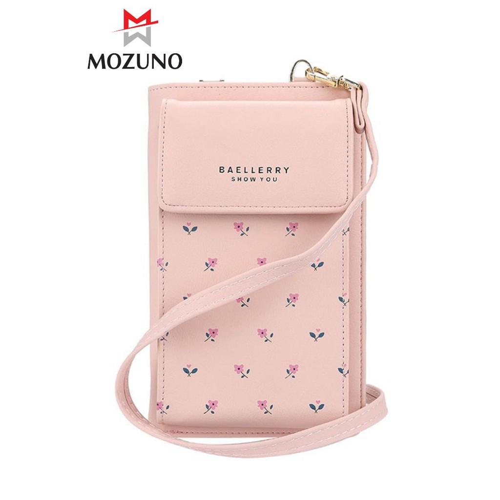 Túi Đeo Chéo Nữ Chính Hãng BAELLERRY Họa Tiết Hoa Nhí Dáng Vuông Siêu Đẹp Siêu Tiện Dụng BR05 - Mozuno