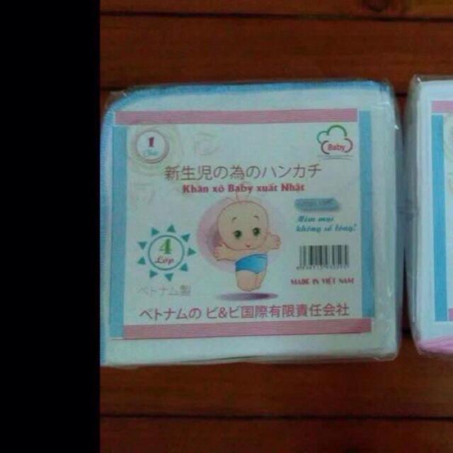 100 khăn sữa 4 lơp mác Nhật
