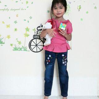 Quần bò/ quần jean bé gái 1 đến 6 tuổi co giãn, siêu đẹp.