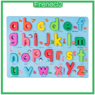[FRENECI2] Wooden Number Letter Matching Puzzle Board Montessori Toys for Kids Preschool Education Math Block Learning Jigsaw Board Gift for Age 3 4 5 Kid