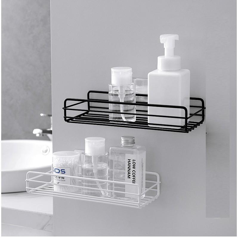 Kệ sắt chữ nhật để đồ nhà tắm dính tường trang trí đa năng, Giá tháng  10/2020