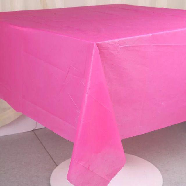 Khăn trải bàn nhựa màu trơn trang trí