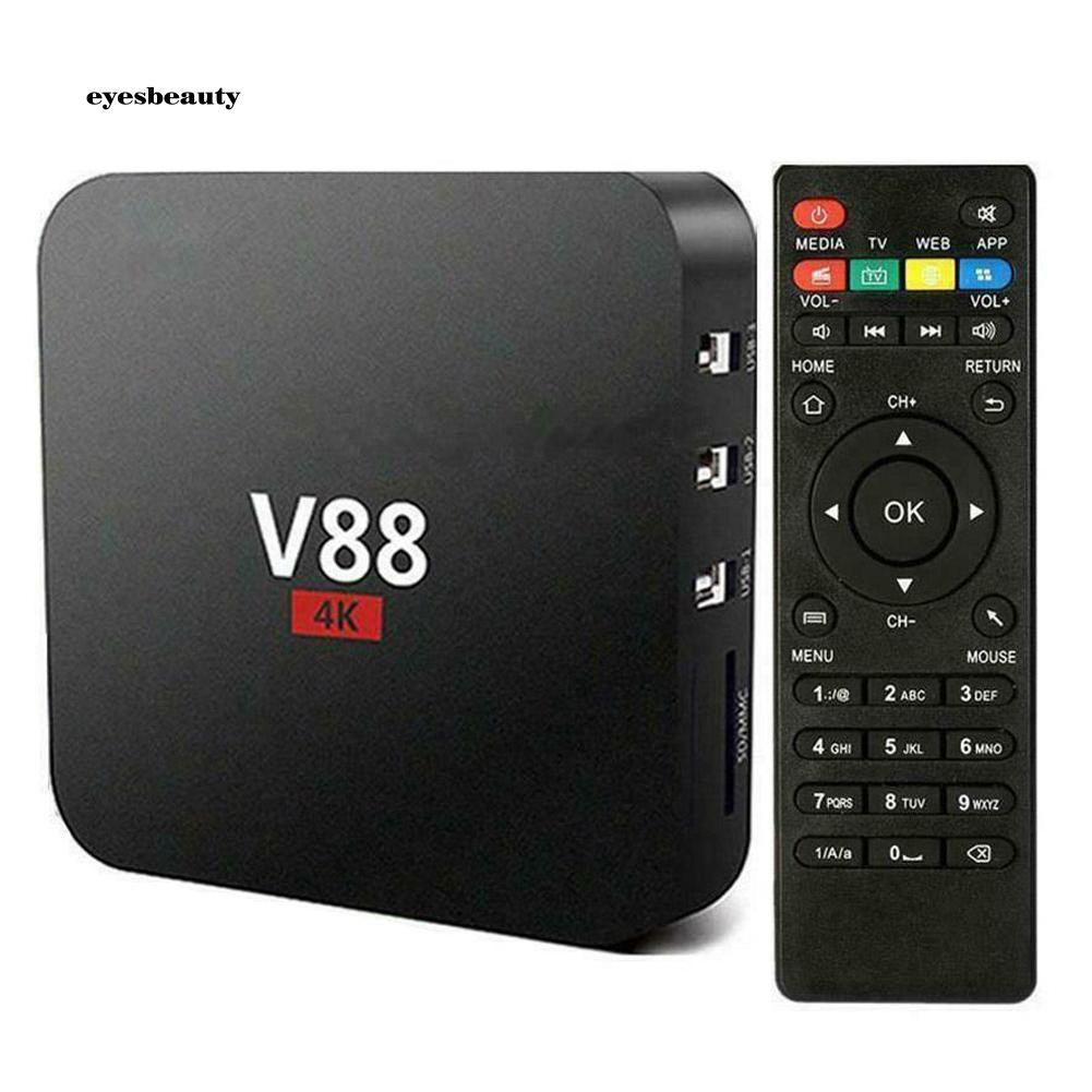 EBTY Smart TV Box 4K Quad Core 1+8GB HD WiFi Set-Top Media Player for Android 7.1 Giá chỉ 431.182₫