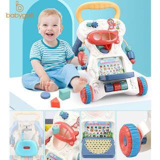 Anti-fall First Step Baby Sit-to-Stand Learning Walker Multi Function Toy