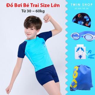 Đồ Bơi Bé Trai Size Lớn Twin, Áo Bơi Size Đại Cho Bé Trai Thiếu Niên Từ 30 ~ 60kg, Mua Kèm Phụ Kiện Bơi Giá Rẻ Hơn