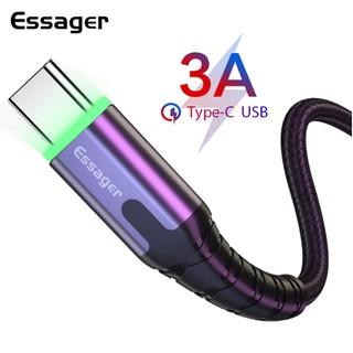 Dây cáp sạc nhanh Essager cổng USB Type C 3.0 có đèn led dành cho điện thoại Smasung Xiaomi