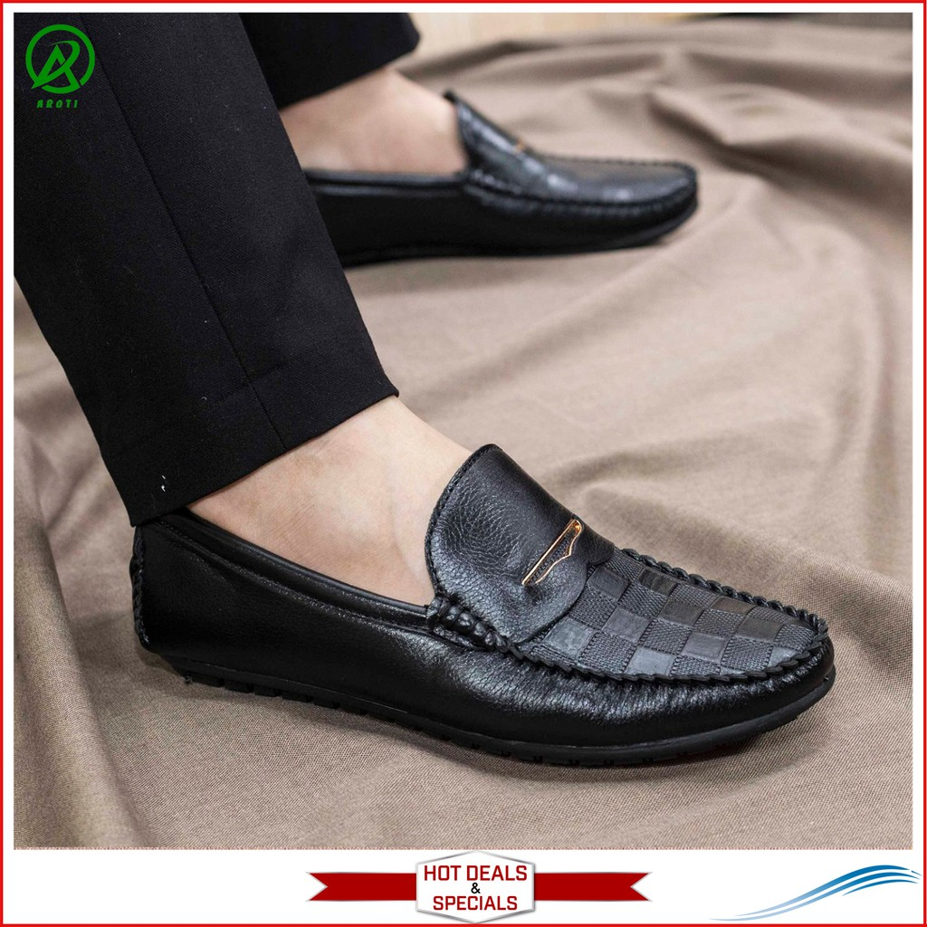 Giày Mọi Nam Đẹp Đế Khâu Vân Caro Cực Phong Cách - M118